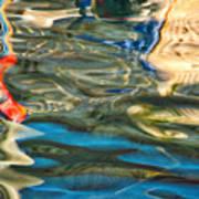Boat Reflections - Hvar Croatia Art Print