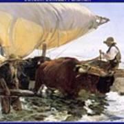 Boat Returning From A Fishing Trip Joaquin Sorolla Y Bastida Art Print