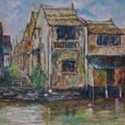 Boat Ride Along The Malacca River Art Print