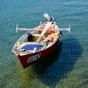 Boat Small Rovinj Croatia Art Print