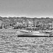 Lobster Boat Mount Sinai Harbor Li.ny Art Print