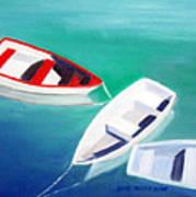 Boat Trio Art Print