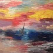 Boat Under Storm Art Print