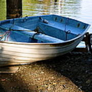 Boat Under The Bridge Art Print