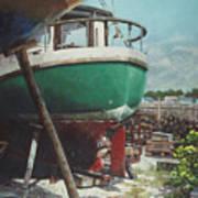 Boat Yard Boat 01 Art Print