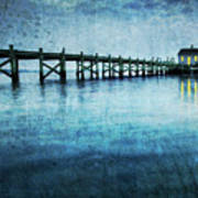 Boathouse Blue Art Print
