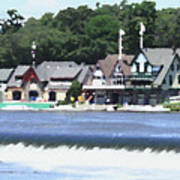 Boathouse Row - Palette Knife Art Print