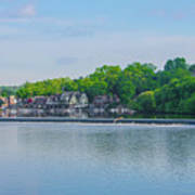Boathouse Row From Mlk Drive - Philadelphia Art Print