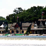 Boathouse Row Philadelphia Art Print