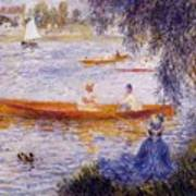 Boating At Argenteuil 1873 Art Print