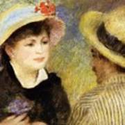 Boating Couple Aline Charigot And Renoir 1881 Art Print