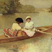 Boating On The Seine Art Print