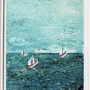 Boats And Birds Art Print
