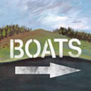 Boats- Art By Linda Woods Art Print