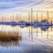 Boats At Calm Art Print