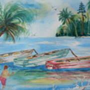 Boats At Casey Key Art Print