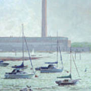 Boats At Fawley Hampshire Art Print