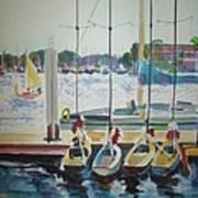 Boats At Marina Del Rey Art Print