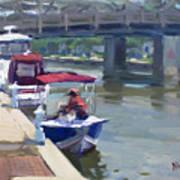 Boats At North Tonawanda Canal Art Print