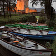 Boats At Ross Castle Killarney Ireland Art Print