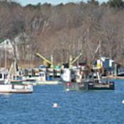 Boats At Rye  Harbor, Nh  Art Print