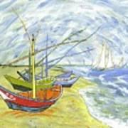 Boats At St. Maries Art Print