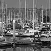 Boats At The Bay Art Print