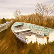 Boats By Causeway Art Print