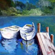 Boats Docked Art Print
