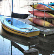 Boats For Rent Art Print