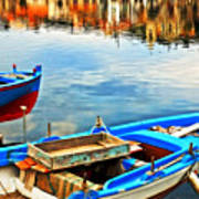 Boats In Autumn Art Print