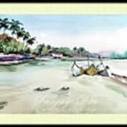 Boats In Beach Art Print