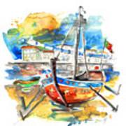 Boats In Tavira In Portugal 02 Art Print