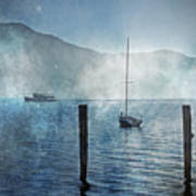 Boats In The Fog Art Print by Joana Kruse