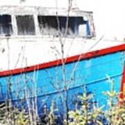 Boats In The Garden Art Print