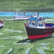 Boats Low Tide Emsworth Art Print