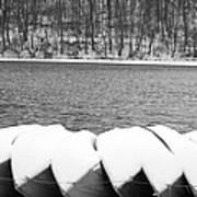 Boats - Lower Twin Lake Bw Art Print