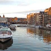 Boats Of Amsterdam Art Print