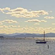 Boats On Lake Champlain Vermont Art Print