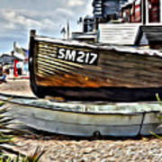 Boats On The Beach Art Print