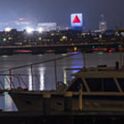 Boats On The Charles River Citgo Sign Boston Massachusetts Art Print