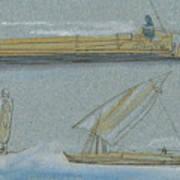 Boats On The Nile Art Print