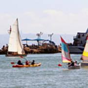 Boats Race Art Print