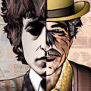 Bob Dylan - Man vs. Myth Art Print