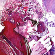 Bob Dylan Art Print by David Lloyd Glover