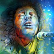 Bob Marley 10 Art Print