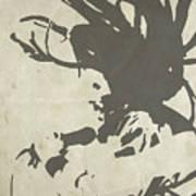 Bob Marley Grey Art Print