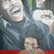 Bob Marley Montage Art Print