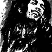 Bob Marley Silhouette   Art Print