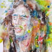 Bob Marley - Watercolor Portrait.17 Art Print